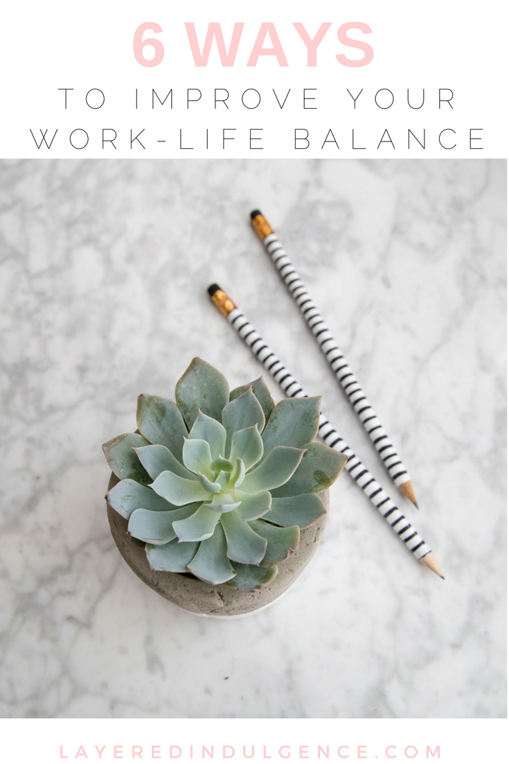 Whether you work at home or from an office, having a proper work-life balance is essential! Without balance, life can get crazy and your health is sure to take a hit. From time management to career advice, check out 6 tips to improve your work-life balance and get back on track!