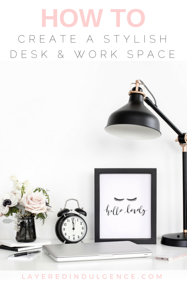 Are you looking for desk accessories for a stylish and organized work space? From a gold trinket dish to a chic desk tray and more, these are the best desk ideas for a blogger/entrepreneur's office! Click through to see the desk accessories now and save this post for others to check out too!