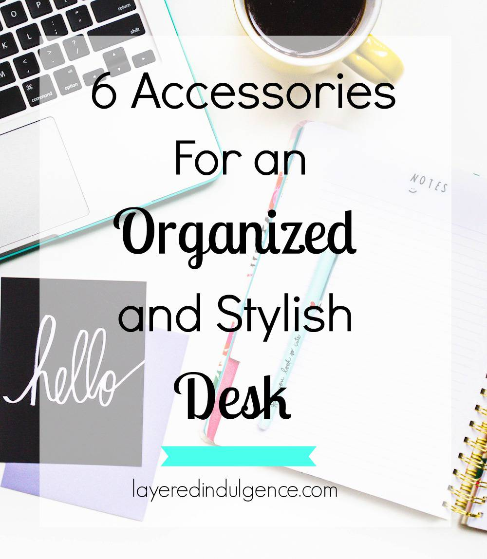 Pretty desk accessories can make your workspace extra chic! Whether you work from home or spend your days at the office, these 6 accessories are sure to make for an organized and stylish desk you love! Click through to see my picks, or save this pin for later!