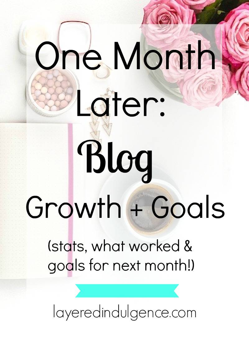 One month after switching my focus to blogging for bloggers I've seen amazing growth with my blog! From upping my social media to starting an email list, I lay out exactly what I did to quadruple my page views and hit 100,000 Pinterest viewers. Click through to see my stats, the tools I used, what worked, and my best tips to grow your blog!