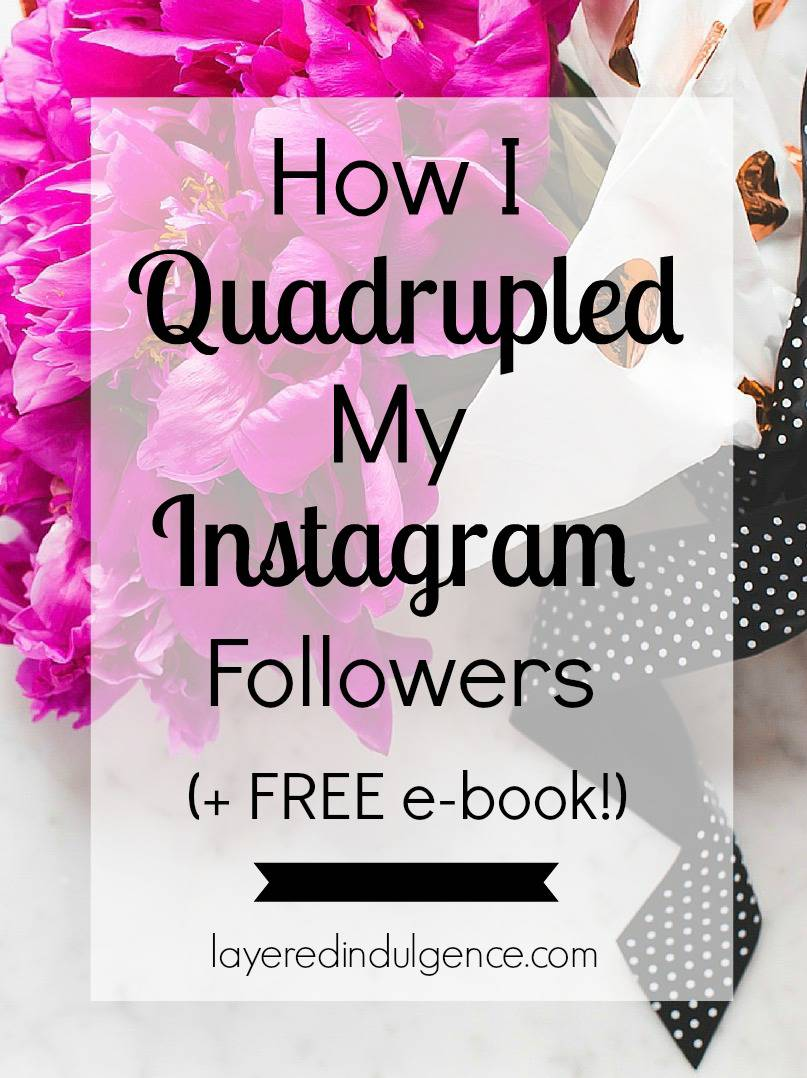 If you're stuck on how to grow your Instagram followers, come right this way! In this FREE Instagram e-book I show you the exact steps I took to QUADRUPLE my followers over just a few months. I provide tips on everything from how to theme your feed to creating an engaged following. Click through to get access or save this pin for later!