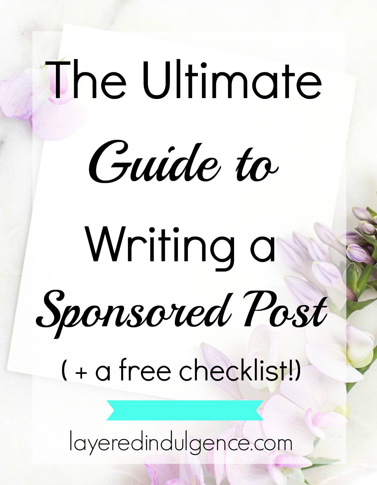 The Ultimate Guide to Writing Sponsored Posts: Are you a blogger who's interested in how to get sponsored posts? Sponsored posts are a great way to try out awesome products and make money from your blog! But there's a certain way to go about writing awesome sponsored content and I'm spilling all my best tips! Click through to read this post now or save it for later! I also made you a handy checklist so you can rock your sponsored posts every time!
