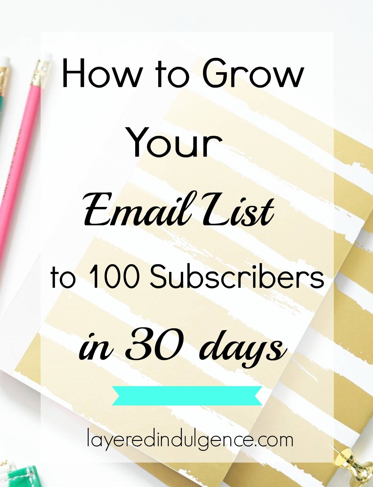 If there's one thing I can recommend for bloggers who want to grow, and eventually start monetizing their blog, it's building an email list. An email list is one of the best marketing tools for bloggers, and I'm dishing out my best tips for getting people to sign up and join your list! Plus, I've created a list of ideas you can send to your subcribers on the weekly! Click through to read the post now, or save this pin for later!