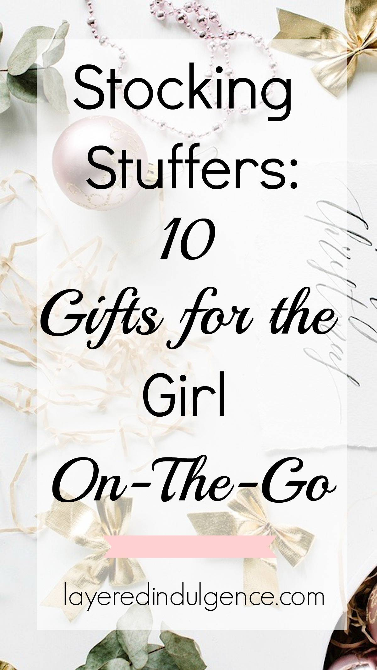 Check out the best Christmas stocking stuffers for the girl on the go! This holiday gift guide features the most covetable items all busy women are sure to love! From a pretty watch and travel mug to a leather tech case, these are the perfect stocking stuffers of 2016!