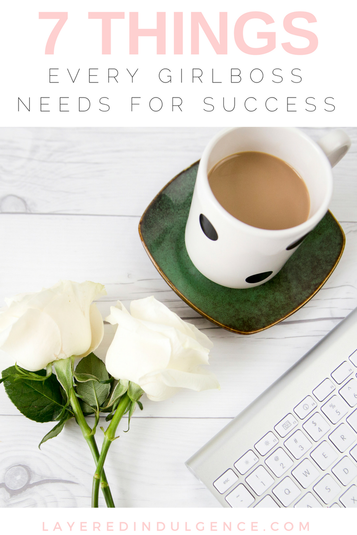 Do you aspire to lead a girl boss lifestyle? Female entrepreneurship is a goal for many, but it takes a lot of perseverance and motivation to get things done! I've rounded up my best tips and advice for a post on 7 things every girl boss needs to be successful. Click through to read it now and save this pin so others can read it too!