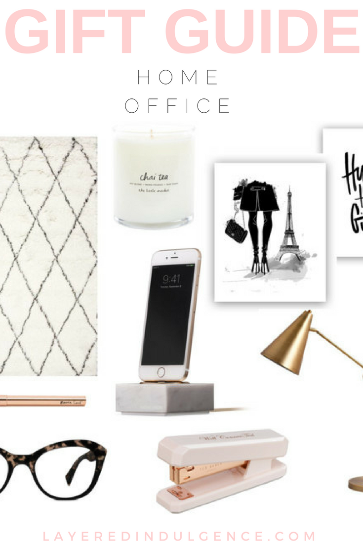 This holiday gift guide is perfect for those who work from home. The home office is one of the most cherished rooms in the house, and these gifts ideas are ideal for women who work out of a home office. If you want to give the best presents for Christmas 2016, check out this gift guide! Click through to see it now and save this pin for later!