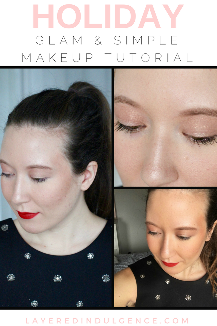 Are you looking for a simple yet glam holiday makeup look? In this tutorial, you'll learn how to get a holiday look perfect for Christmas, New Year's or whatever event you may have. With shimmering gold eyes and red lipstick, this natural but gorgeous look will have you finishing 2016 in style!