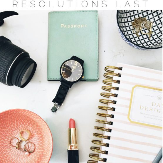 Do you love making New Year's resolutions but feel stuck when it comes to making them last? Check out my best tips and ideas for sticking to your goals, whether they're fitness goals, writing goals, blogging goals or resolutions for staying healthy! Say goodbye to 2016 and hello to 2017 with this awesome post! Click through to read the post and make sure you save it for others to read too!