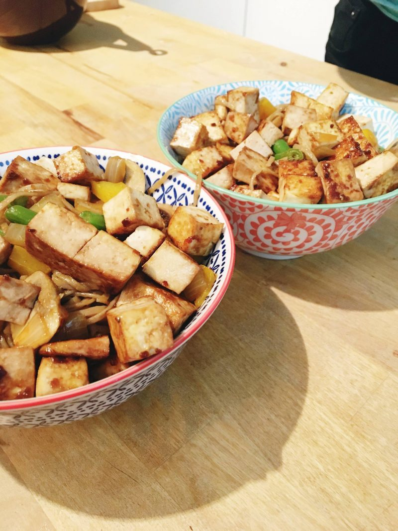 coconute curry tofu stir fry