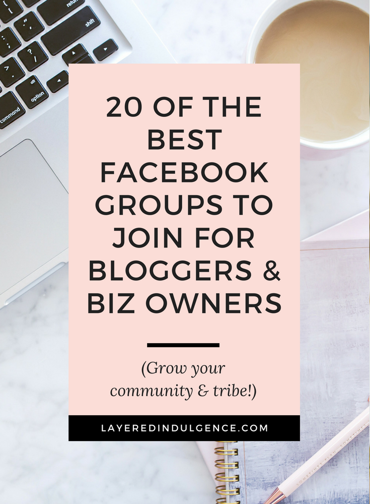 Facebook communities are a great way to make connections, build relationships, network, and grow your blog like never before. Learn business advice, business strategy, and find blogging support and blogging tips! Facebook is an awesome social media medium to grow your blog and business! Click through to check out 20 of the best Facebook groups for bloggers and for business owners and save this pin for later!
