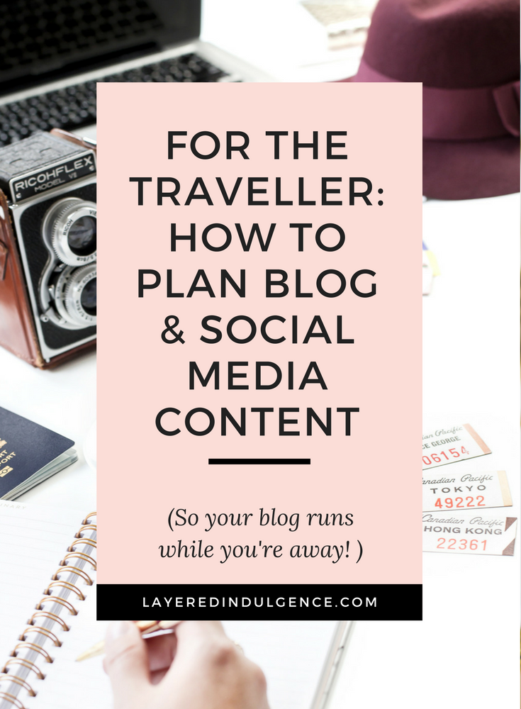 If you're a blogger who loves to travel, planning ahead for when you're on vacation is absolutely key to having a successful blog. Productivity and efficient time management tips will help your blog and social media run smoothly while you're away. Click through to read my best tips for how to plan blog and social media content when you travel and save this post for other bloggers to read too!