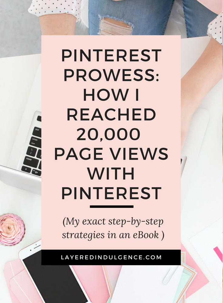 Want to know how I reached 20,000 page views last month (and counting)? Bloggers, entrepreneurs and creatives can sky rocket their followers and influence with Pinterest and I want to show you exactly how to do it with my fool proof tips. If you want to catch the eye of brands and grow your blog with Pinterest, this eBook provides a step-by-step guide to success! Click through to read all about the eBook now and save this pin for others to check out too!