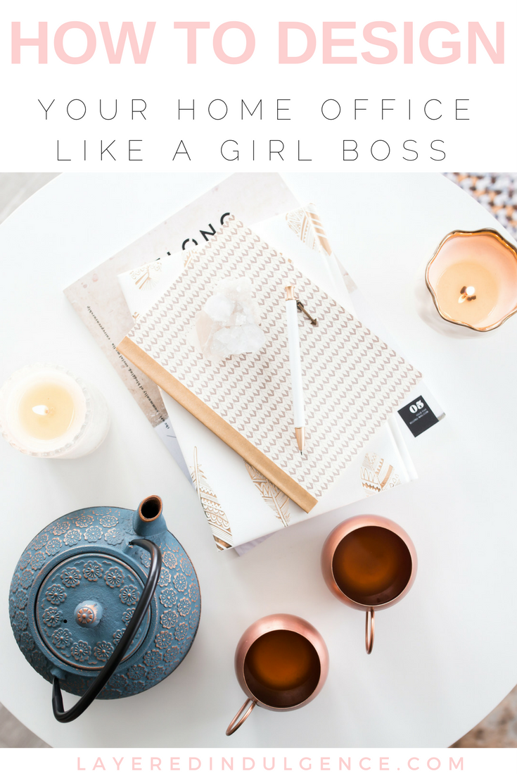 how to design your home office like a girl boss