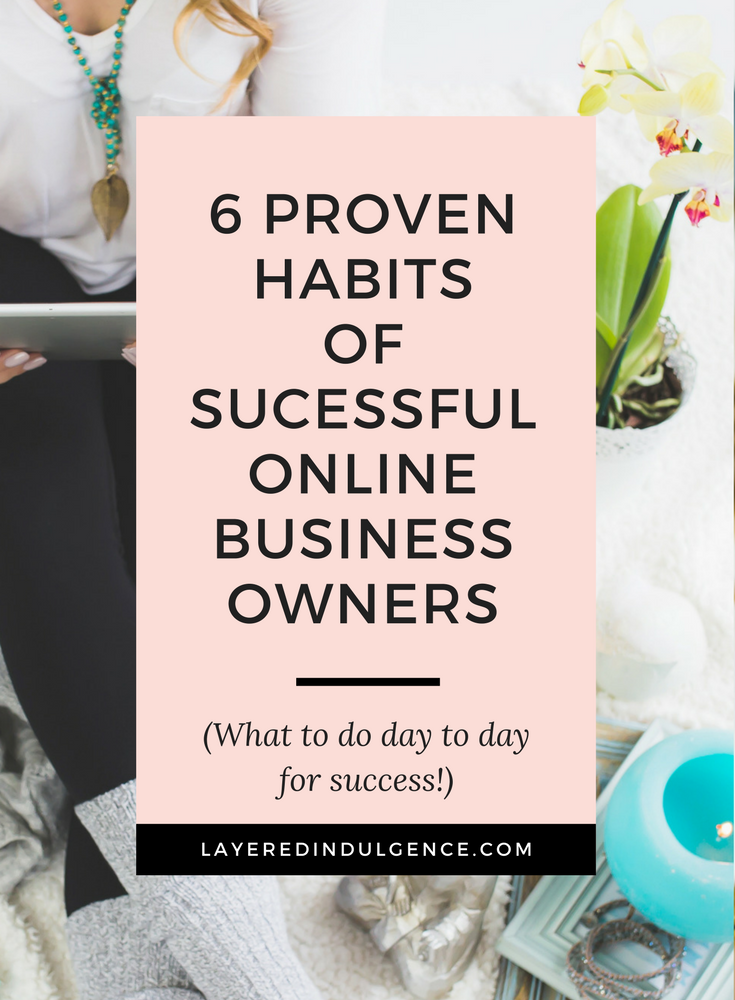 Want to know 6 key habits of successful online entrepreneurs? From starting mornings right to getting goals, and listening to podcasts for entrepreneurs, these tips will help you grow as a business owner. Reading about the habits of successful people can help you be successful in your own life! Click through to rad the post now and save it for other entrepreneurs to read too!