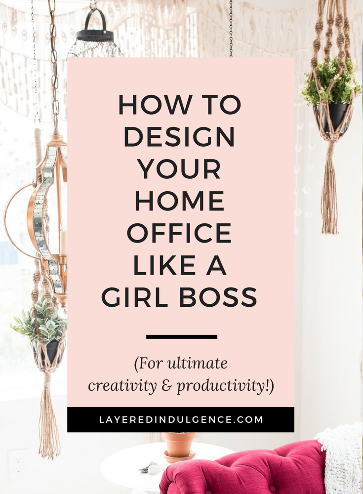 Have you always wanted a girl boss office? Check out the best décor and design tips to create a work space that keeps you motivated and productive, and looks perfectly stylish! You'll love coming to work in your home office every day and your ideas and creativity will flow from morning to night! Click through to see how you can design your office like a girl boss, and save this pin for other girl bosses to check out too!