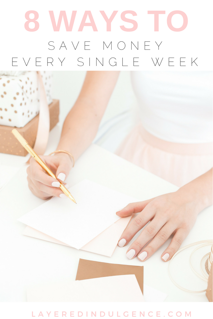 my weekly budget plan  8 ways to save money every week