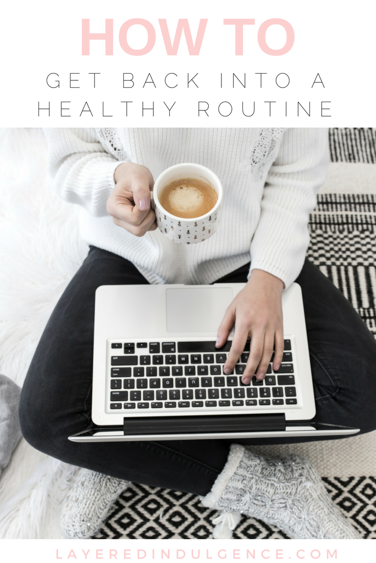 How I Plan To Get Back Into A Healthy Routine