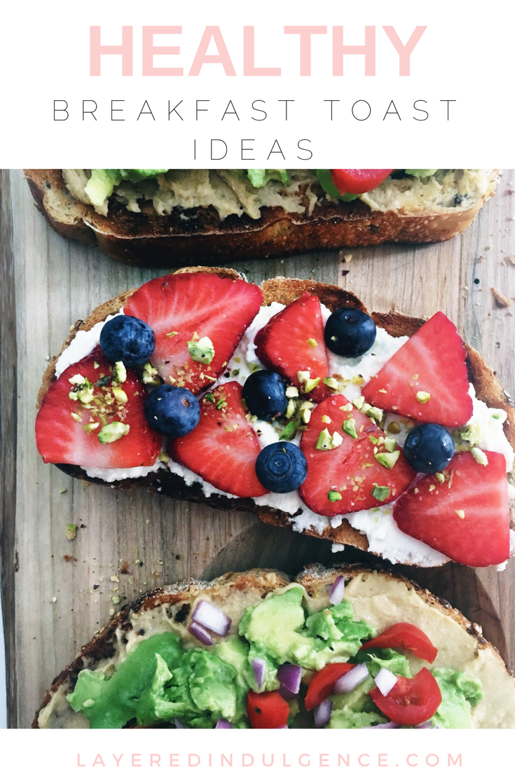 Breakfast Toast Ideas: These healthy breakfast ideas are a simple way to start your morning. Check out this easy avocado toast recipe and easy ricotta toast recipe, perfect wheter you have a sweet or savory tooth! They make ideal brunch recipes if you're entertaining guests, or a yummy breakfast for yourself!