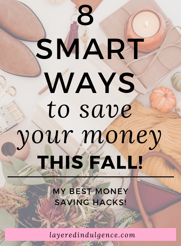 "My best tips for how to save money fast this fall! From shopping local to making your own pumpkin spiced lattes, to having ""no spend"" weekends, these are my best ideas for frugal living, my best money saving hacks!"