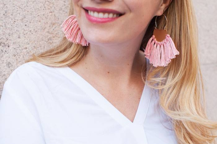 easy diy gifts tassel earrings