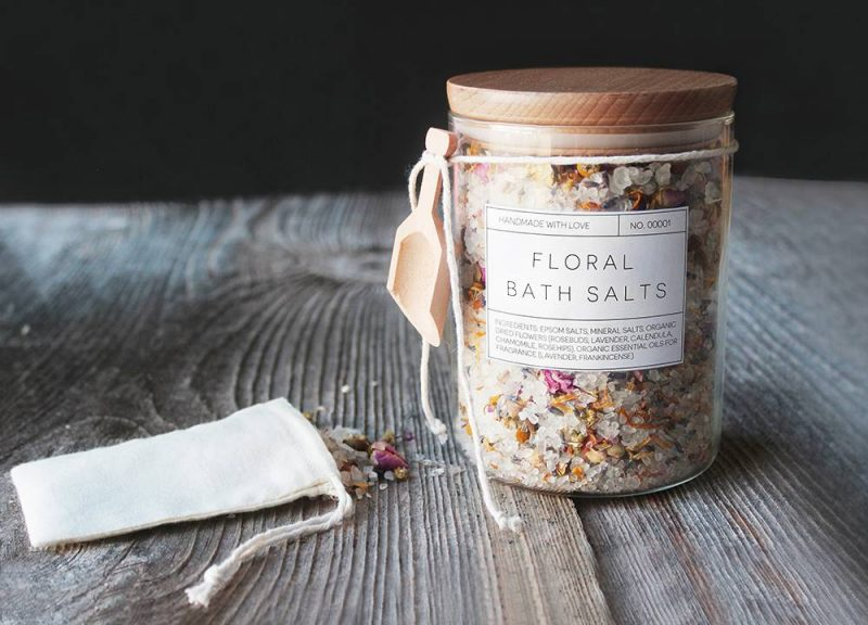 easy diy gifts floral bath salts