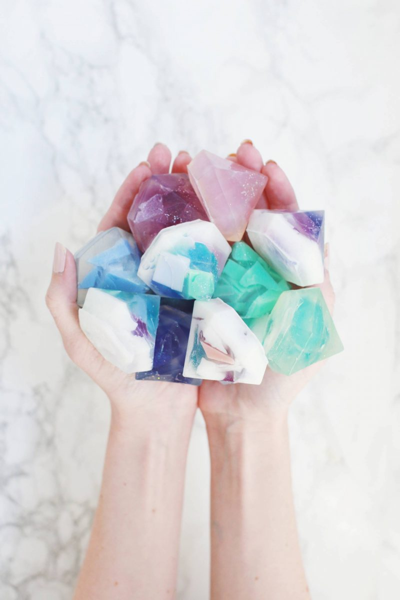 diy gifts gemstone soap