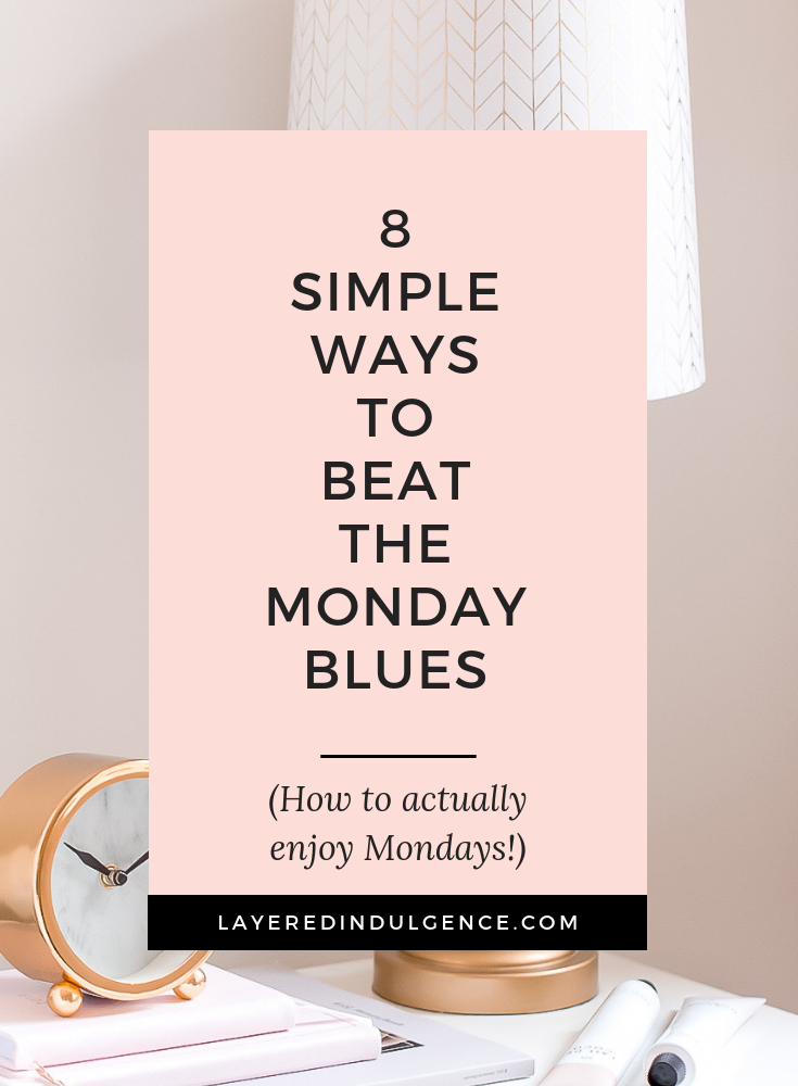 How to enjoy Monday mornings: 6 simple ways to beat the Monday blues and have a happy life! If you lack motivation to get to work on Monday, you're going to love these tips for an awesome Monday routine!