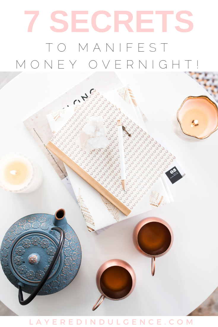 7 secret tips to manifest money fast. From asking the universe to making money goals and practicing gratitude, here's how to skyrocket your wealth and make more money immediately!