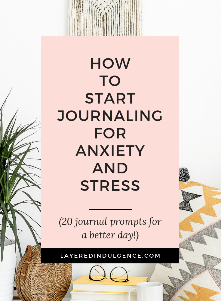 How to start journaling for anxiety and stress. Journaling ideas to boost your mood and improve your mental health. Take your self care into your own hands and use these prompts to live more fulfilling days.