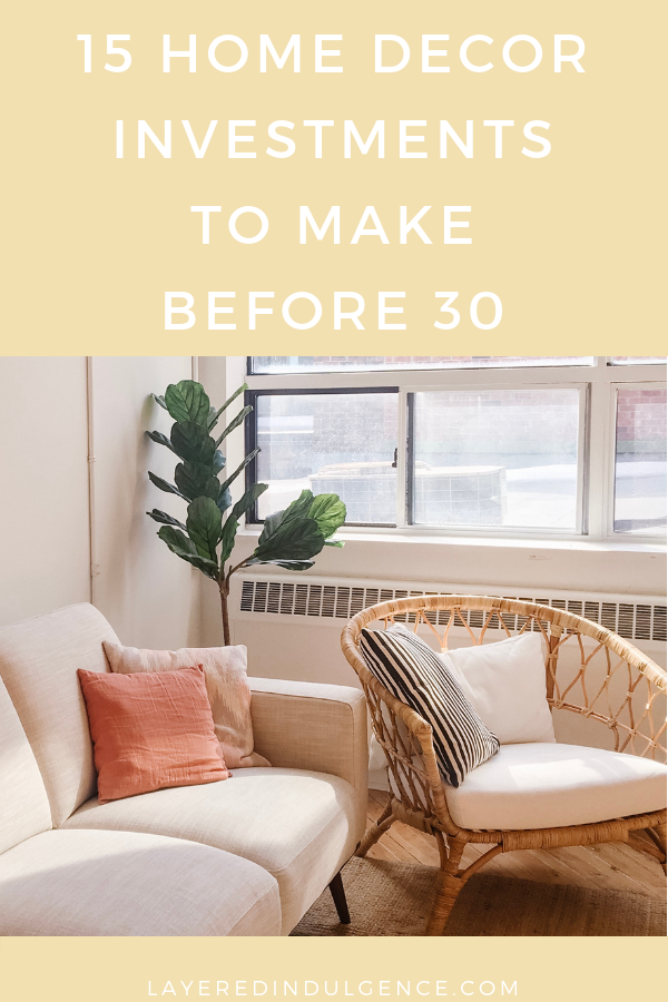 Home decor must haves for living rooms, bedrooms, and more! These products will enhance your interior design and are items you should have in your house by 30! Check out these 15 home decor essentials to have before 30! #homedecor #interiordesign #homedecorproducts