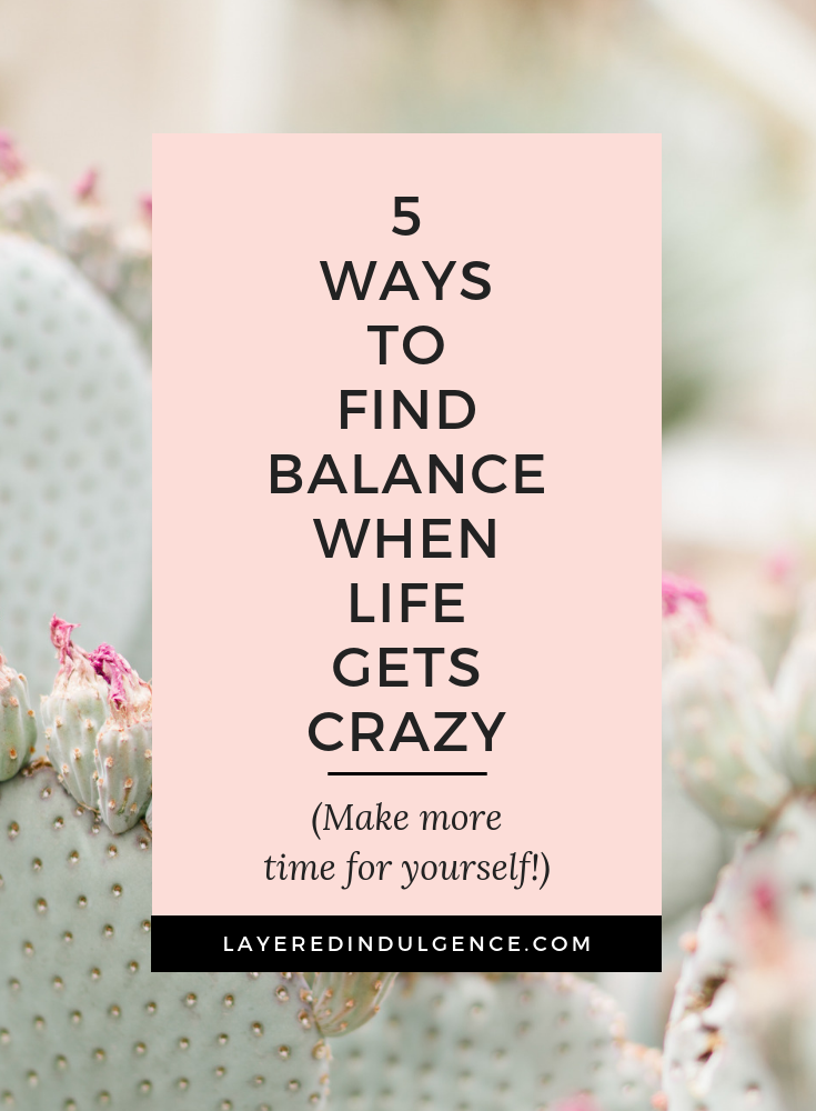 how to balance a busy lifestyle
