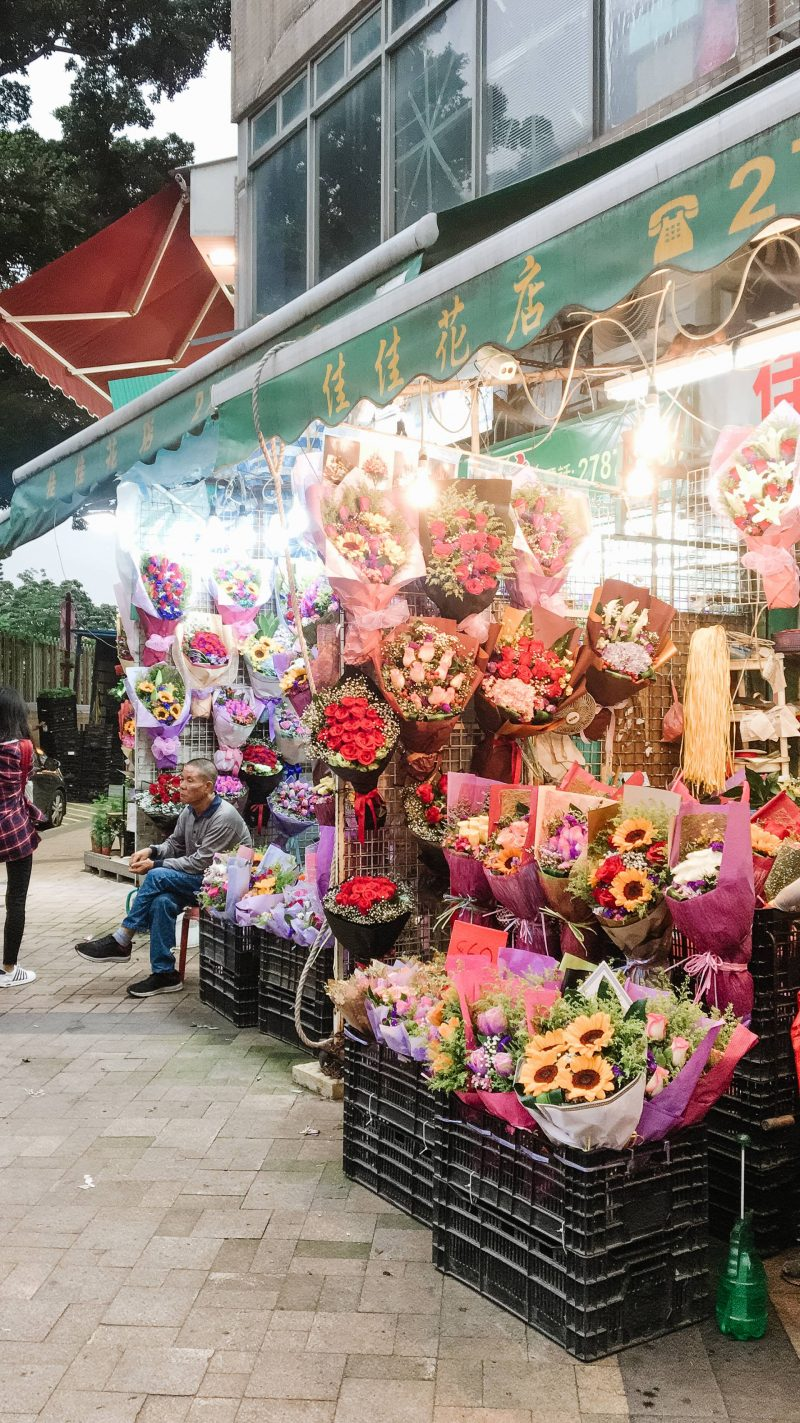 Hong Kong Mongkok Flower Market