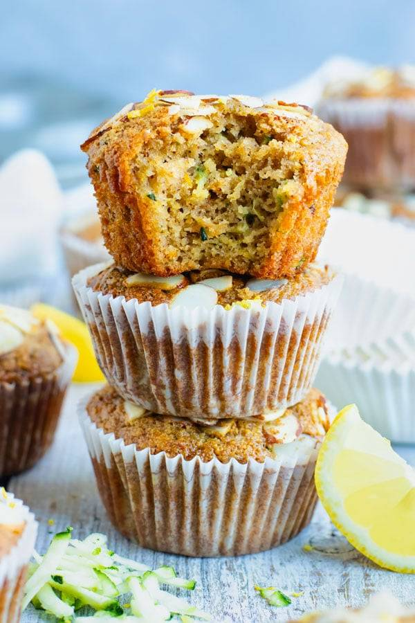 on the go breakfast recipes- zucchini lemon muffins