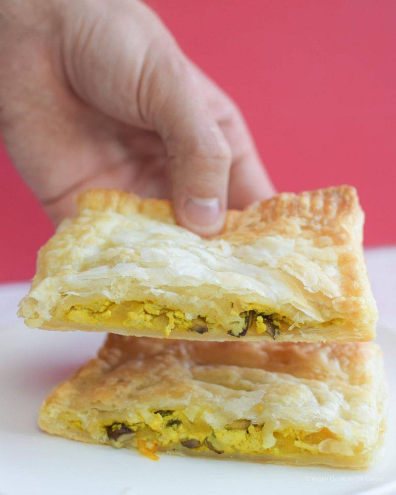 on the go breakfast recipes- tofu scramble pockets